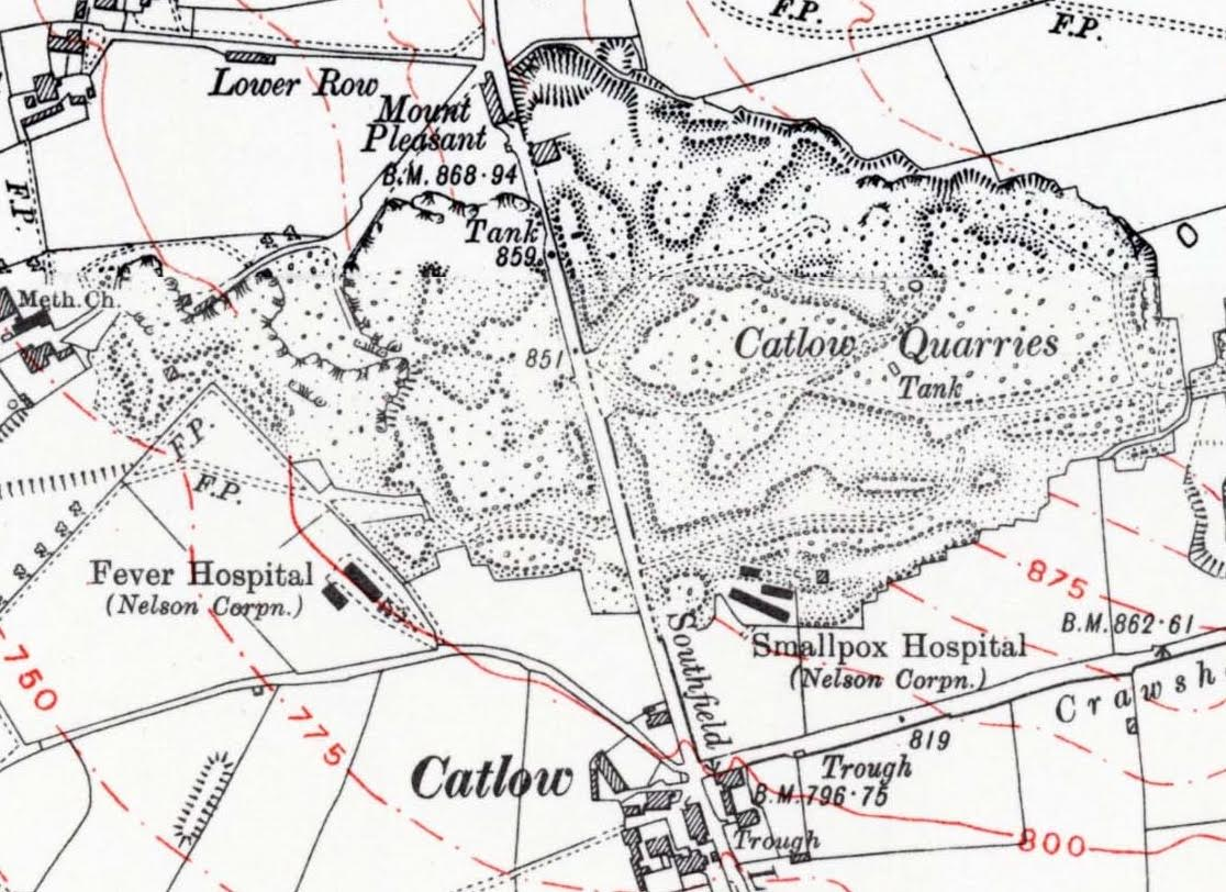 Catlow ordinance survey map c. 1930 / credit: Disused Stations – Alan Young