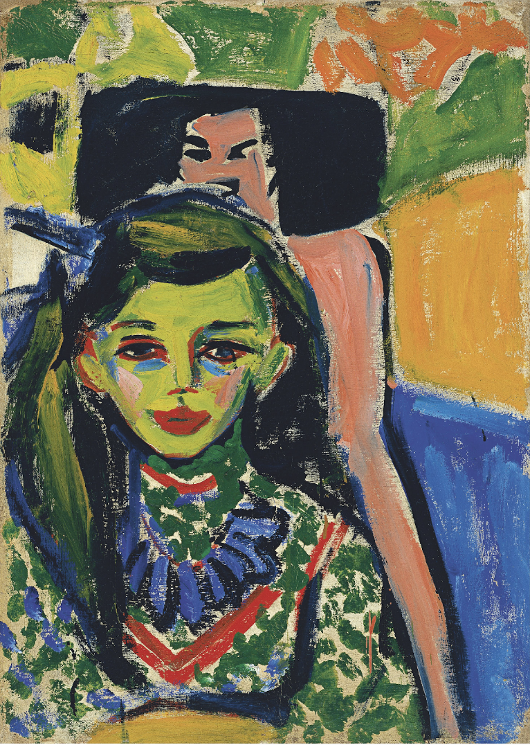 Ernst Ludwig Kirchner, Fränzi in front of Carved Chair, 1910, Museo Thyssen-Bornemisza, Madrid