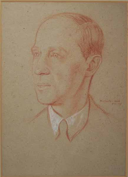 Charles L Rutherston (1918)by William Rothenstein credit: Manchester City Galleries -