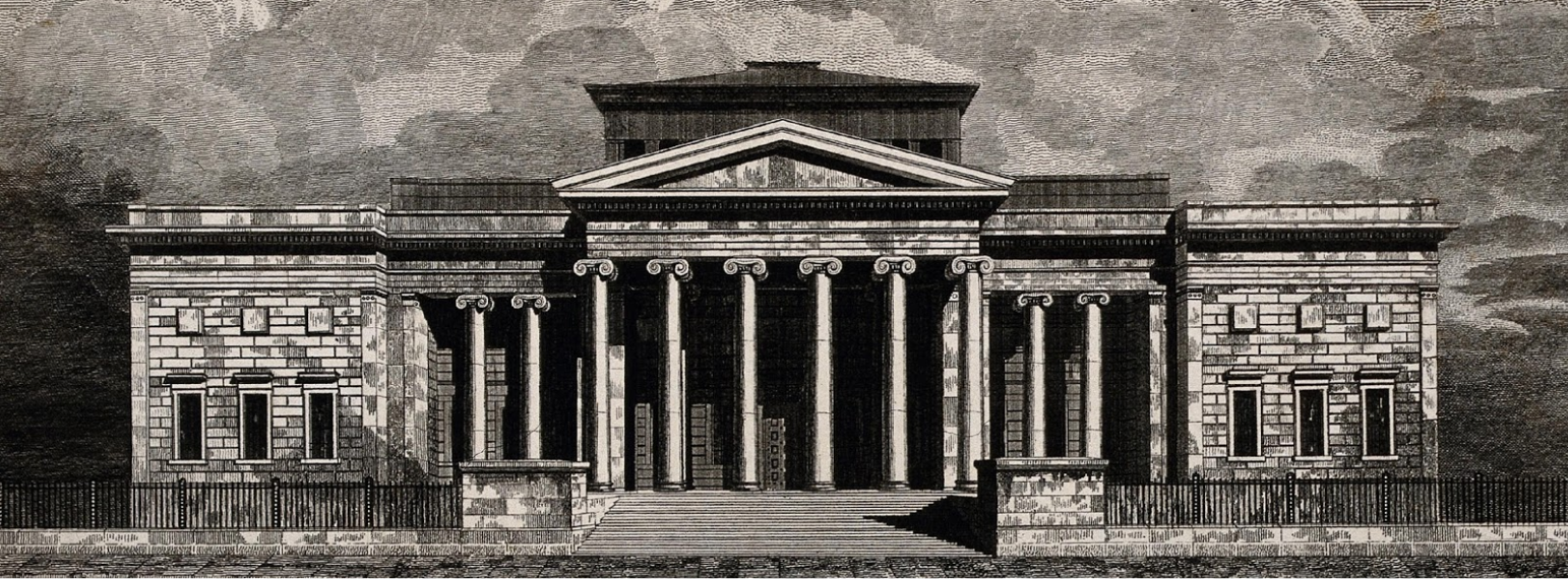 Royal Manchester Institution, line engraving by J Fothergill credit: Manchester City Galleries