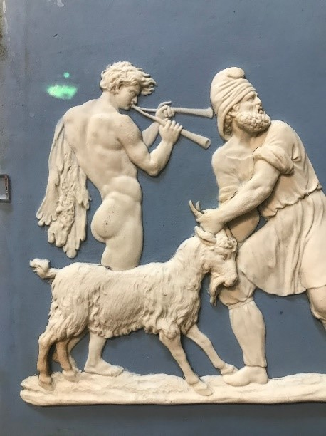 Close up section of  Preparations for Sacrifice of Goat  (1778) Wedgwood/ Possibly Hackwood, William.