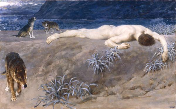 Hector Lying Dead  (1892) Briton Riviere.