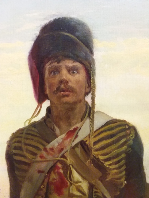 Detail, Balaclava - Private Pennington's face