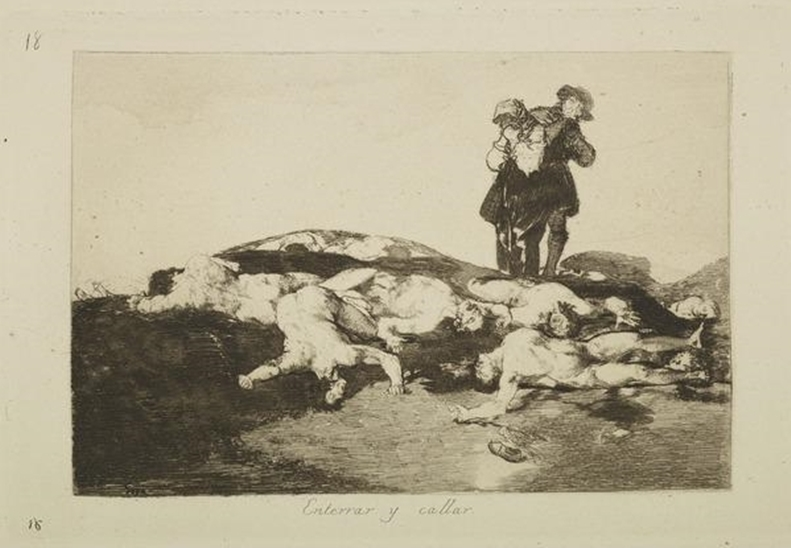 The Disasters of War: Bury Them and Keep Quiet (1862-93) by Goya © National Galleries Scotland