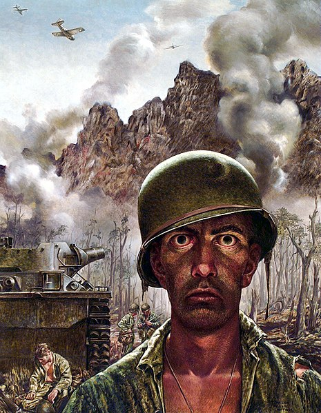 Two Thousand Yard Stare (1944) by Thomas Lea / credit: Wikipedia