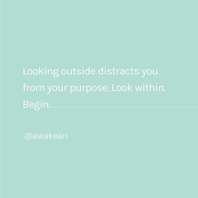 Look within. Begin. ✨