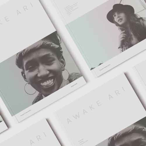 A photo of several copies of Awake Ari Magazine