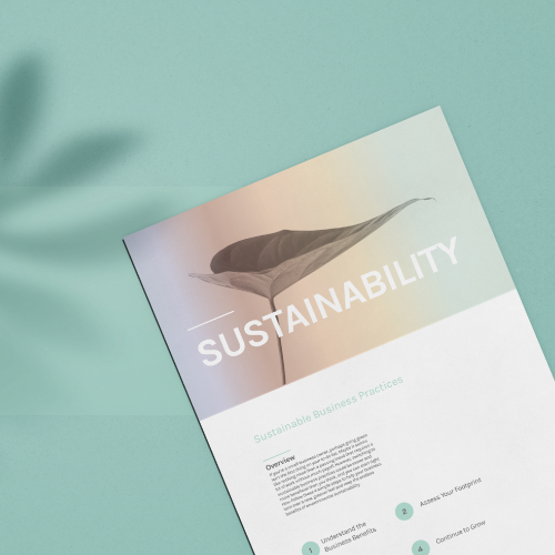 A photo of an article from Awake Ari about sustainability