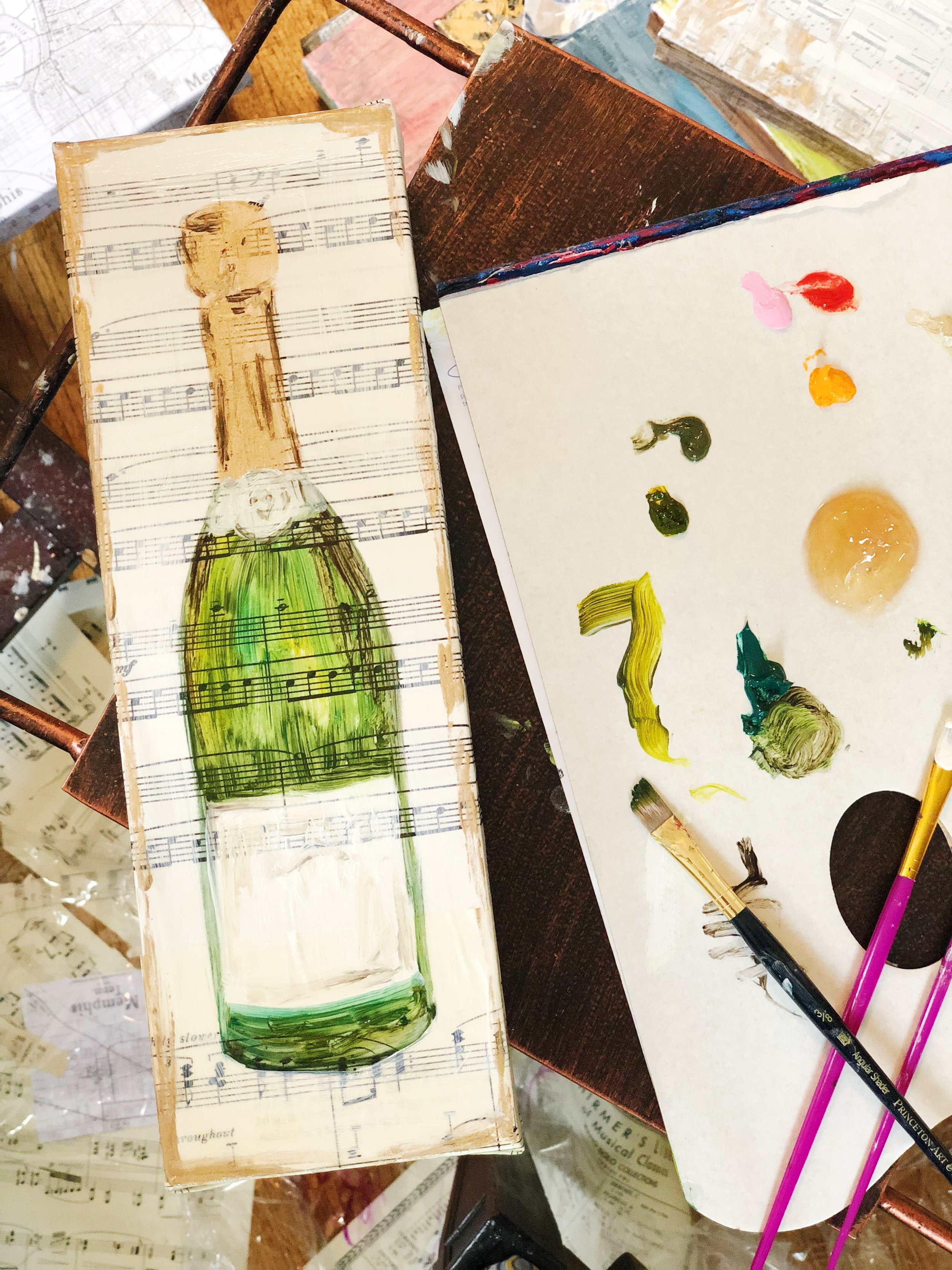 A new champagne celebration series from Dorothy Art.