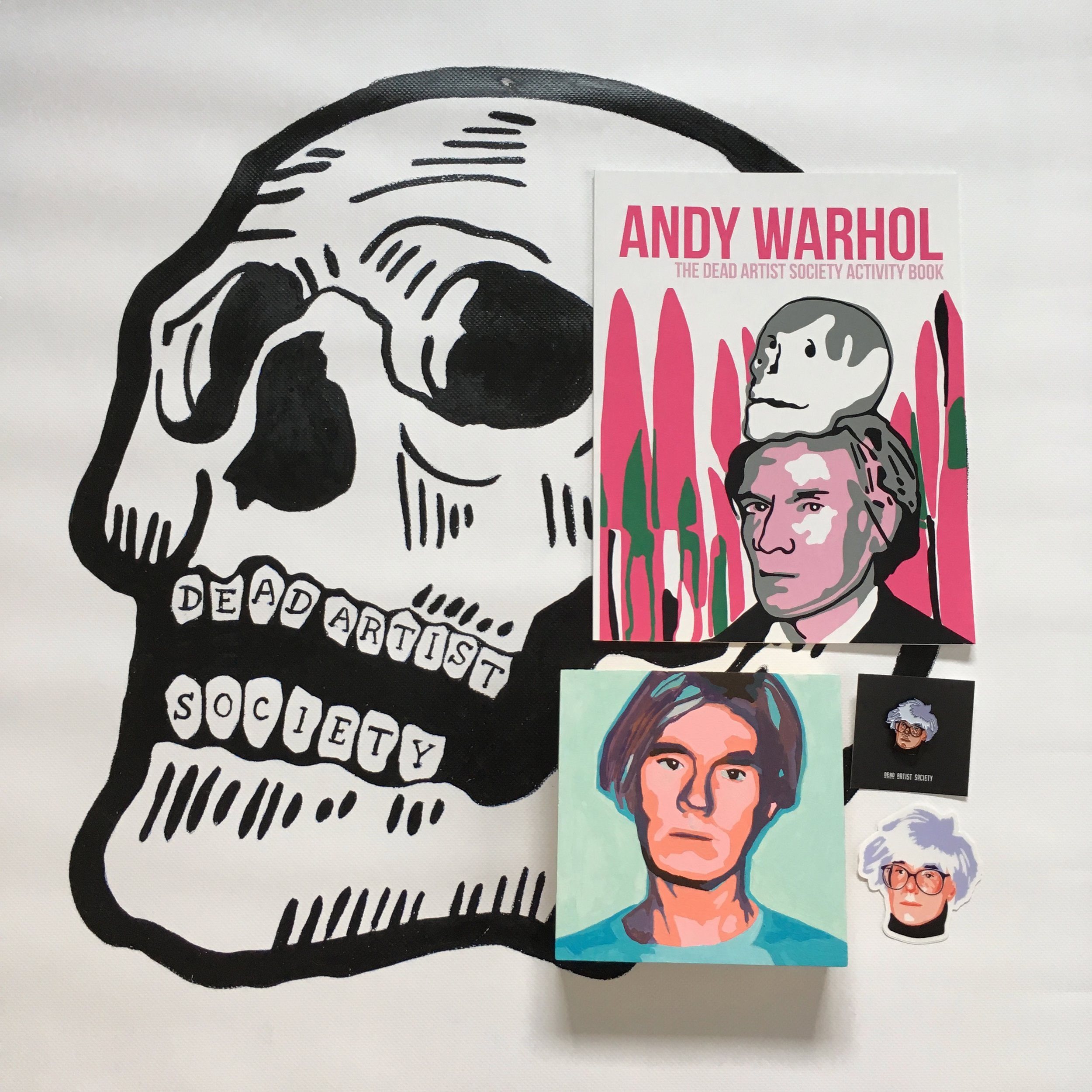 Artist Crystal Moody's Dead Artists Society Series, featuring Andy Warhol.