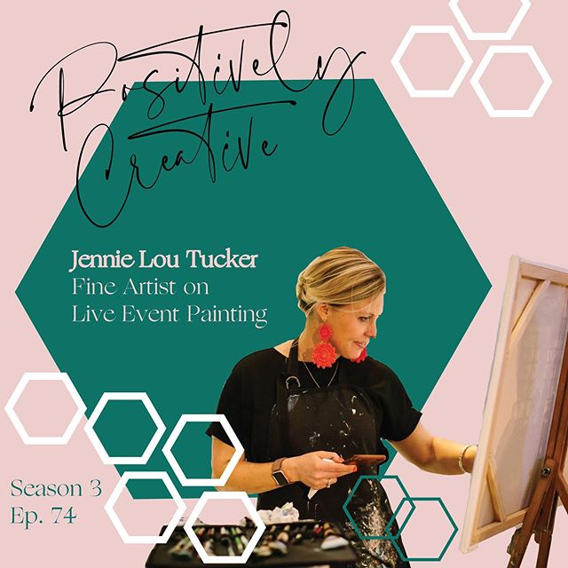 Today we are talking about live painting! Jennie sat down with me to share her process for live painting and the types of events she paints for. We also talk about how she schedules these events, what travel looks like and which supplies are her go to's for live painting. If you've ever thought about live painting or wondered what it's like, this is the episode for you! @jennielouart . . . #artpodcast #podcastforcreatives #positivelycreativepodcast #mompreneur #livepainting #weddingpainting #eventpainting #liveeventpainting #liveeventartist #liveeventpainter