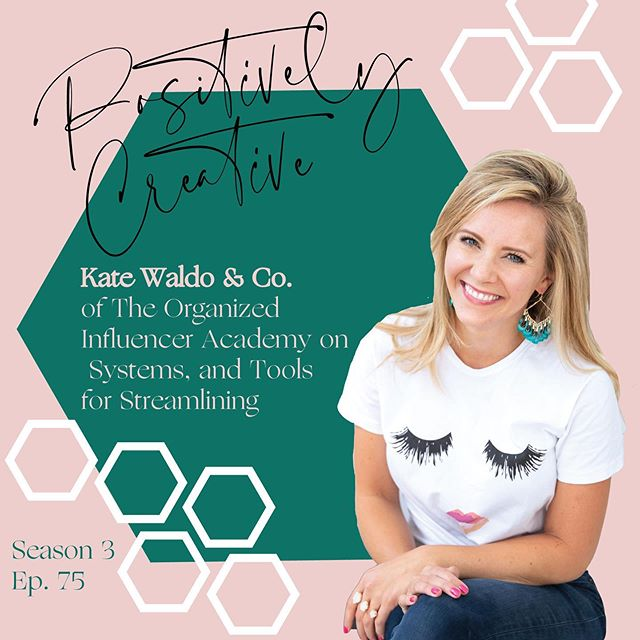 In today's episode, I'm chatting with Kate Waldo. We met by chance and connected in an Uber on our way to Alt Summit. Kate is an organizer for influencers, bloggers and creatives. She shares how to get started creating systems, why CRMs are so valuable and what some of her favorite tools are for streamlining. Kate also tells us why going paperless is a must! This is a must listen and will inspire you to start working on streamlining your business!