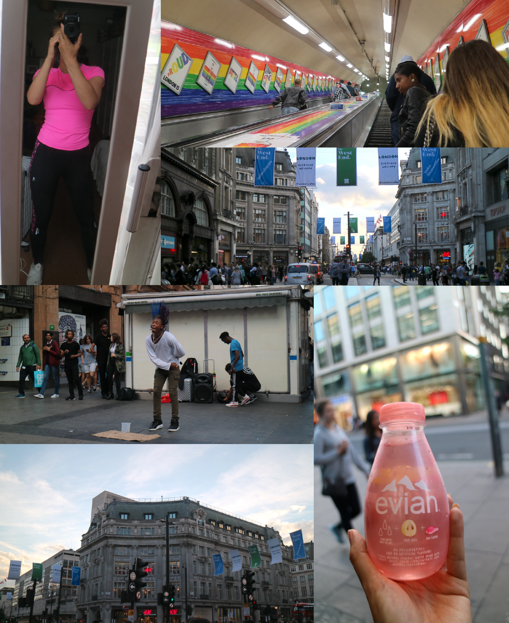 I love the Pride advertising from absolute Vodka. And the Evian water drop thing taster really good but I recommend the real water instead, haha.