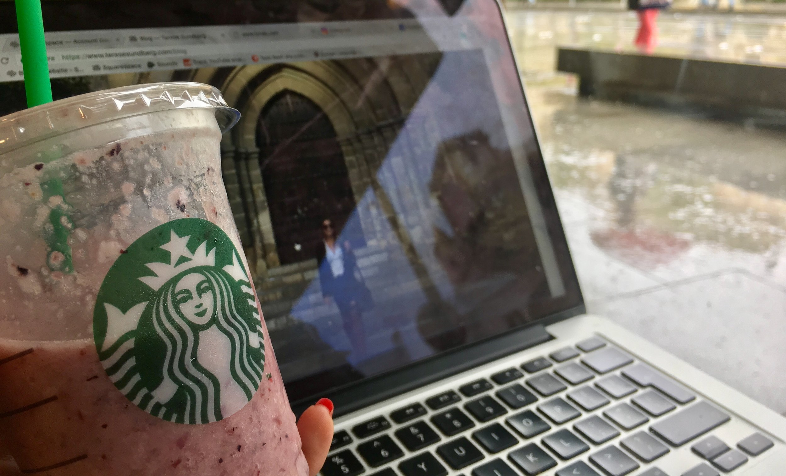 The Starbucks smoothies is a little bit of a disappointment. Don't get them.