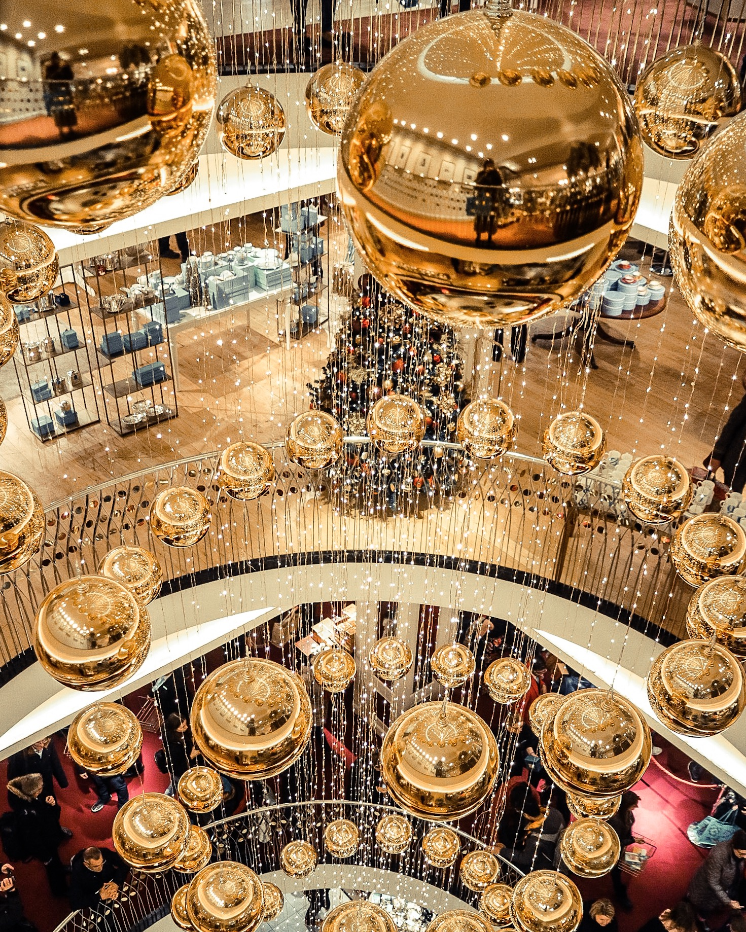 Christmas decorations at Fortnum and Mason.