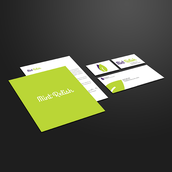 This is a corporate ID project (letterhead, business cards, folder and #10 envelope.