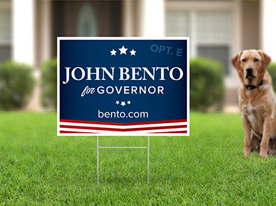 Do you need yard signs? - We have a bunch of templates you can choose from but if you have your own print-ready art or you would like a custom sign...that's all great too! We got ya covered.CLICK HERE to check out the yard signs.