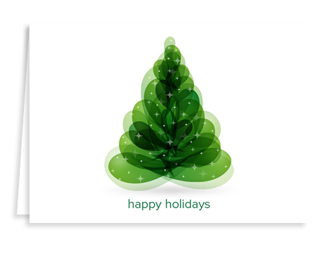 green holiday tree holiday card from Graphicsource