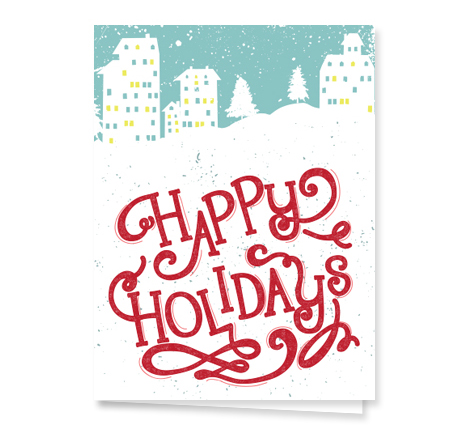 happy-holidays-little-town-card from Graphicsource