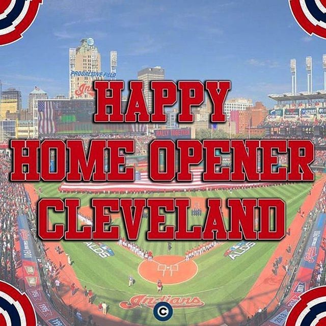 ⚾️ The Boys of Summer are back! Let's Go Tribe! Happy Home Opener Day! . Reposted from @chagrin_falls_oh . @clevelanddotcom #cleveland #clevelandindians #clevelandindiansbaseball #cle #baseball #openingday #april #monday #progressivefield #mlb - #regrann