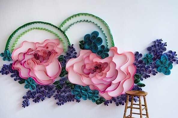 We are so excited to have this special Spring installation up at @studio42dyt until April 28th! It's so versatile for any sort of spring backdrop. Head on over to the studio's page for more info, we can't wait to see how you use it!  #dayton #daytonohio #downtowndayton #daytonphotography #photographybackdrop #handmade #flowers #springportraits #verdigrisbackdrops