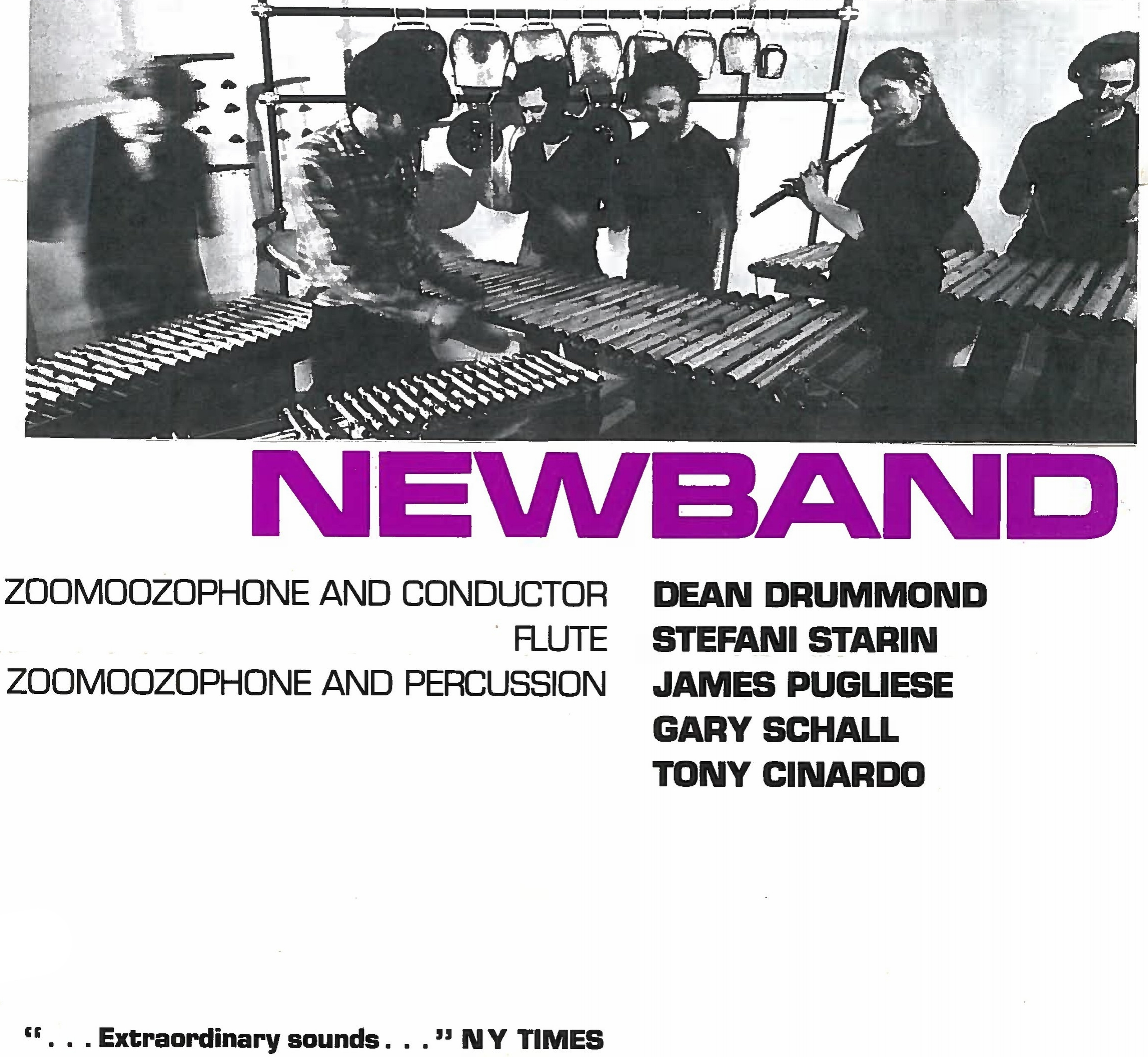 Schall was a pioneer of microtonal music on the Zoomoozophone, a metallic instrumentwith 31 tones per octave created by Dean Drummond. Schall performed Drummond's music as well as the music of Harry Partch. Schall's composition, Xonix became a regular part of the Newband repertoire. -