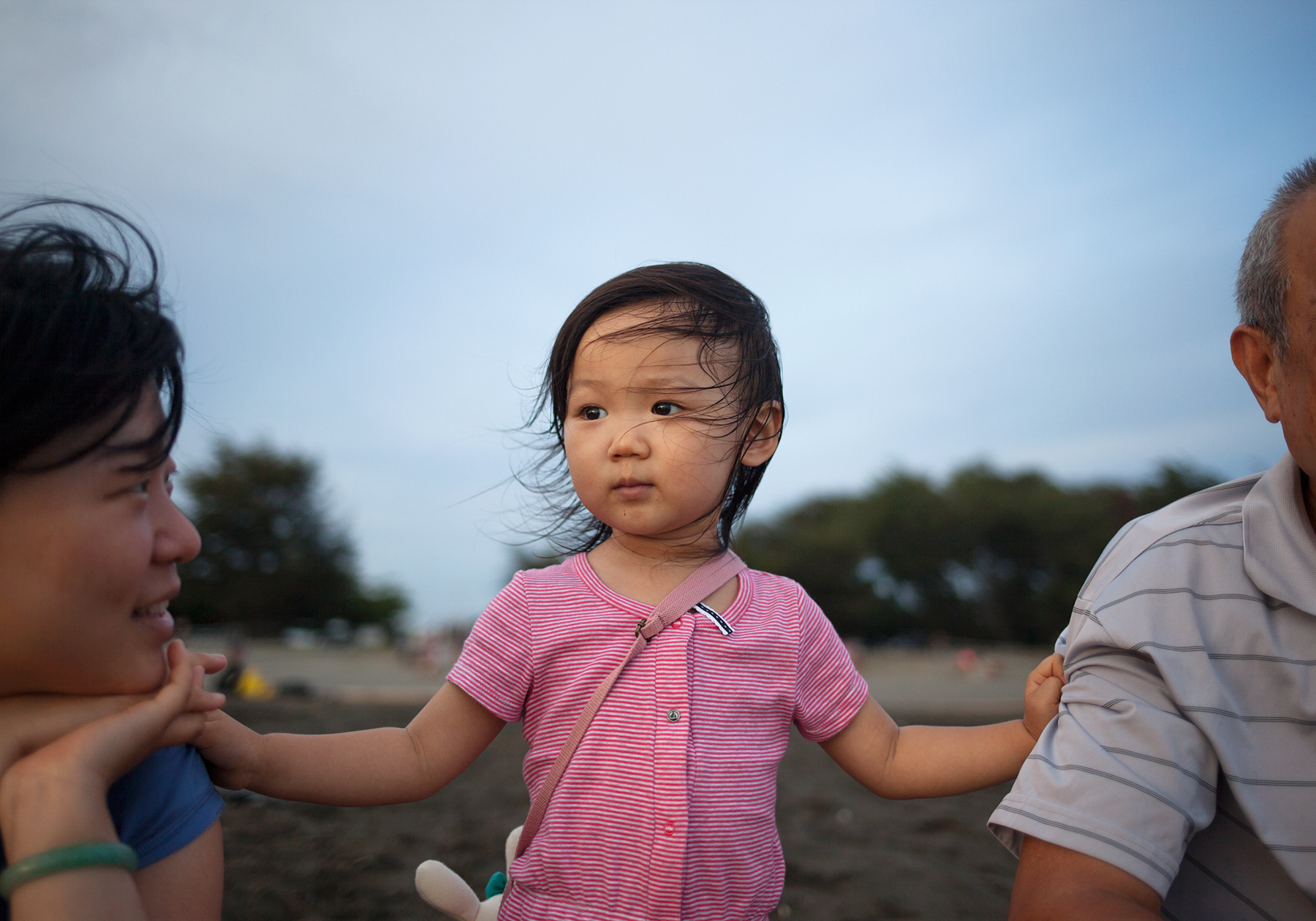 Niu-Niu on the beach in Tainan, Taiwan. 2015.