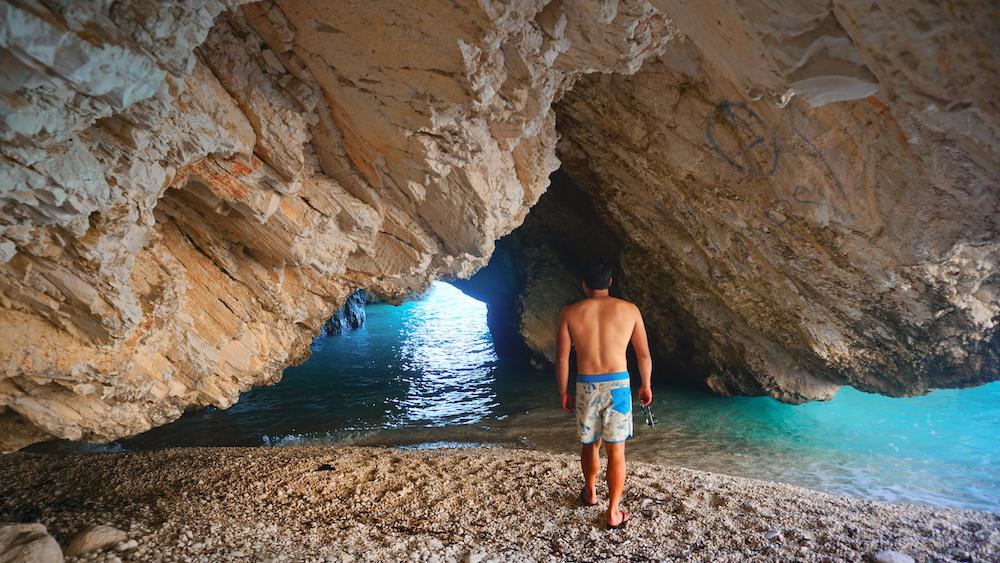 Myrtos Beach - Sea Cave - Kefalonia