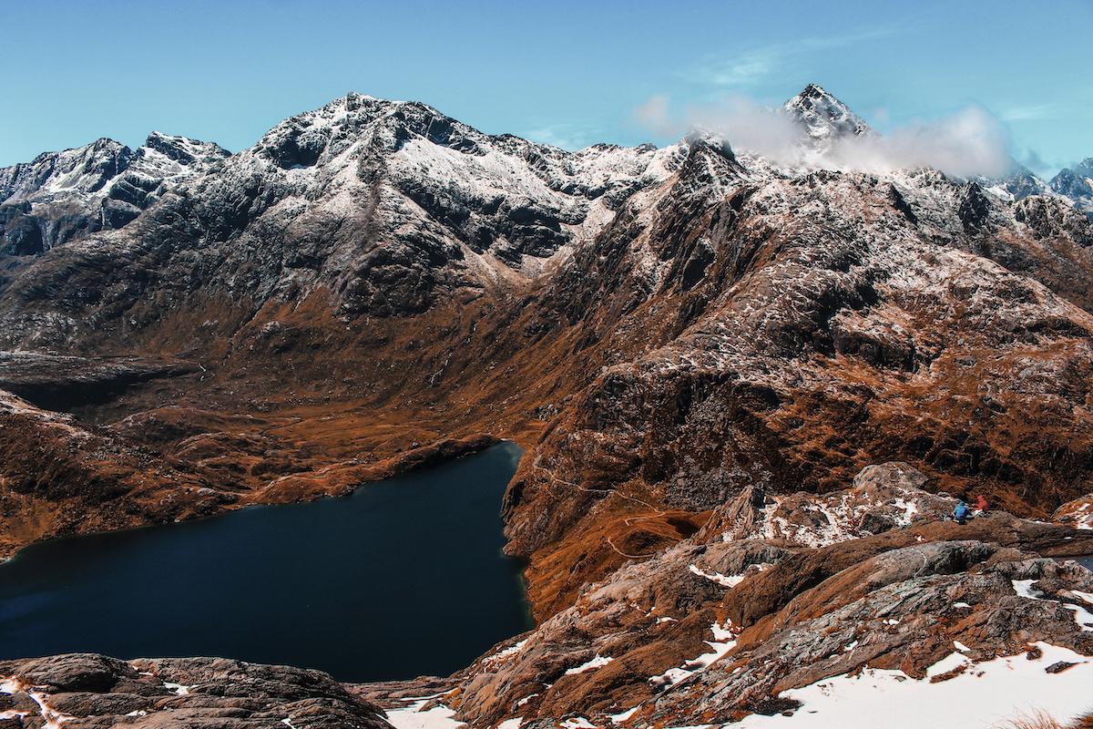 Routeburn Track - Summit - Mountain - Alpine Lake - NZ