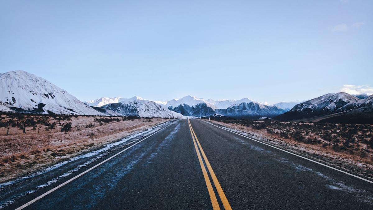 Mountains - NZ Road - New Zealand