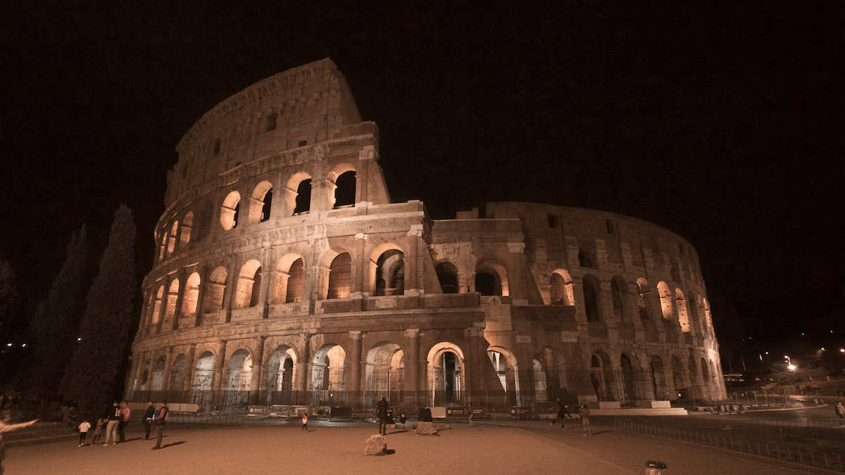 Colosseum at Night - Rome, Italy