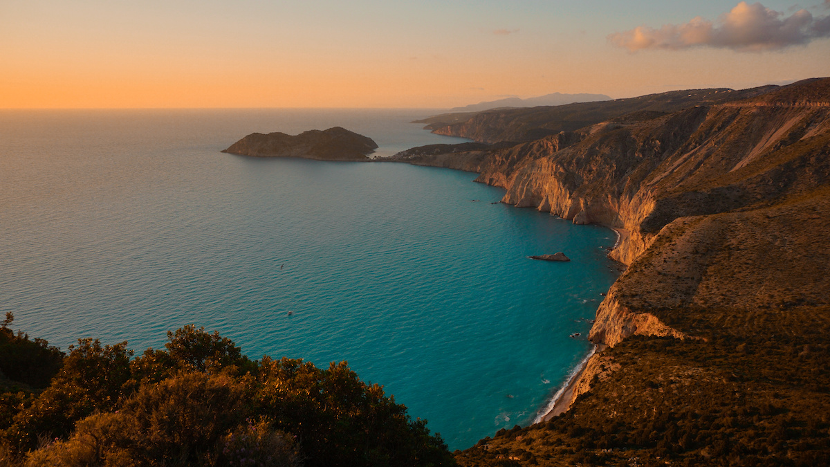 Myrtos Beach Sunset - Kefalonia, Greece