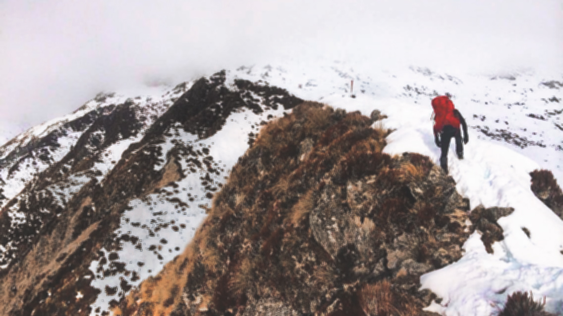 Brewster Hut in Winter - Mt Aspiring National Park - NZ