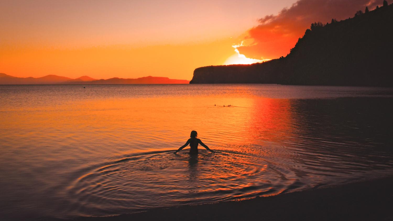 Sunset Lake Taupo - NZ