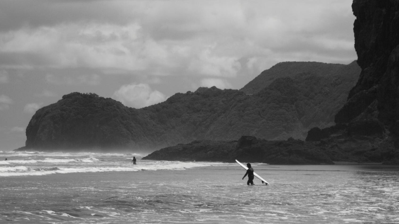 Piha Beach - Surfer - NZ