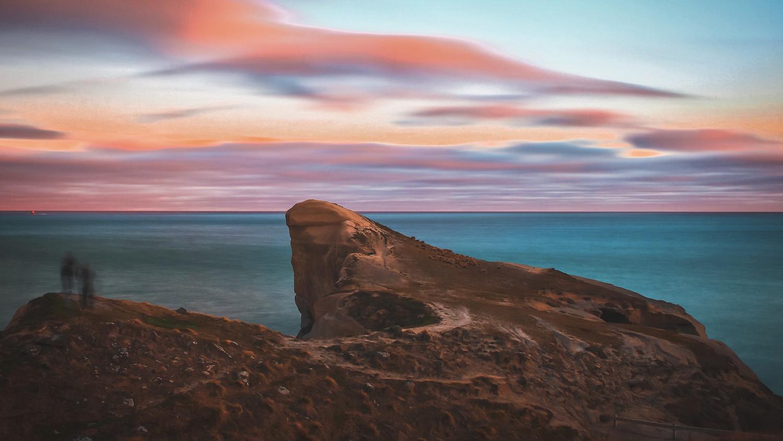 Tunnel Beach Sunset - Dunedin, Otago - NZ
