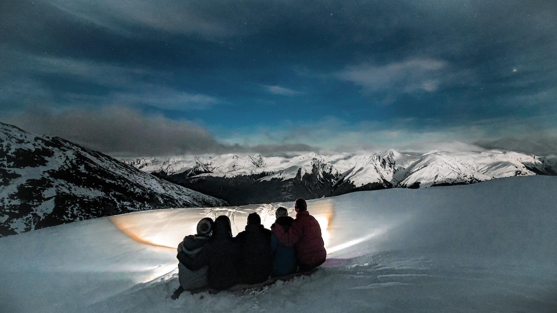 Brewster Hut at Night - Mt Aspiring National Park - NZ
