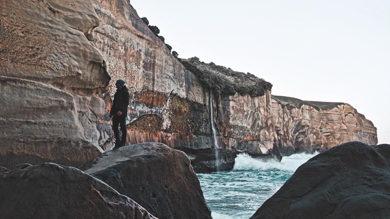 Tunnel Beach Cliffs - Dunedin, Otago - NZ