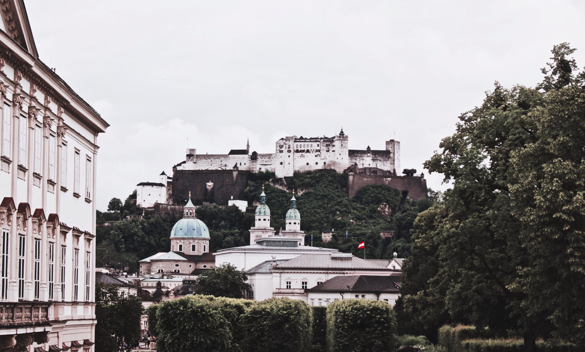 Mirabell Palace Garden, Salzburg Fortress
