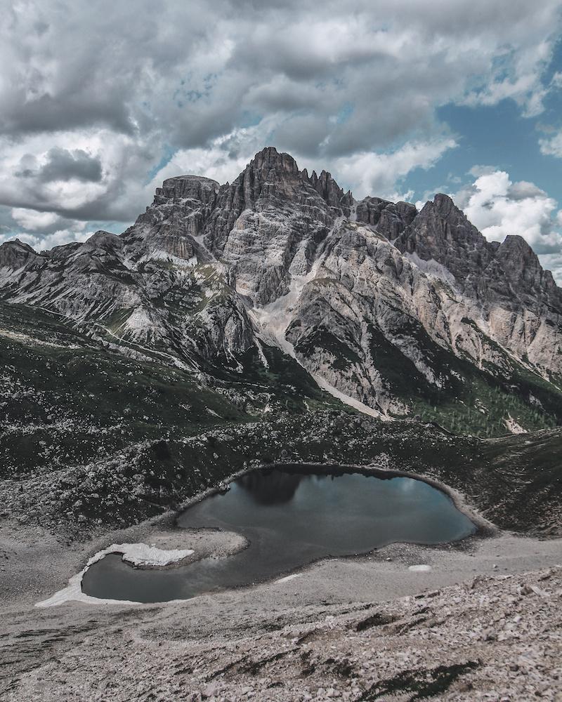 Alpine Lakes Near the Three Peaks