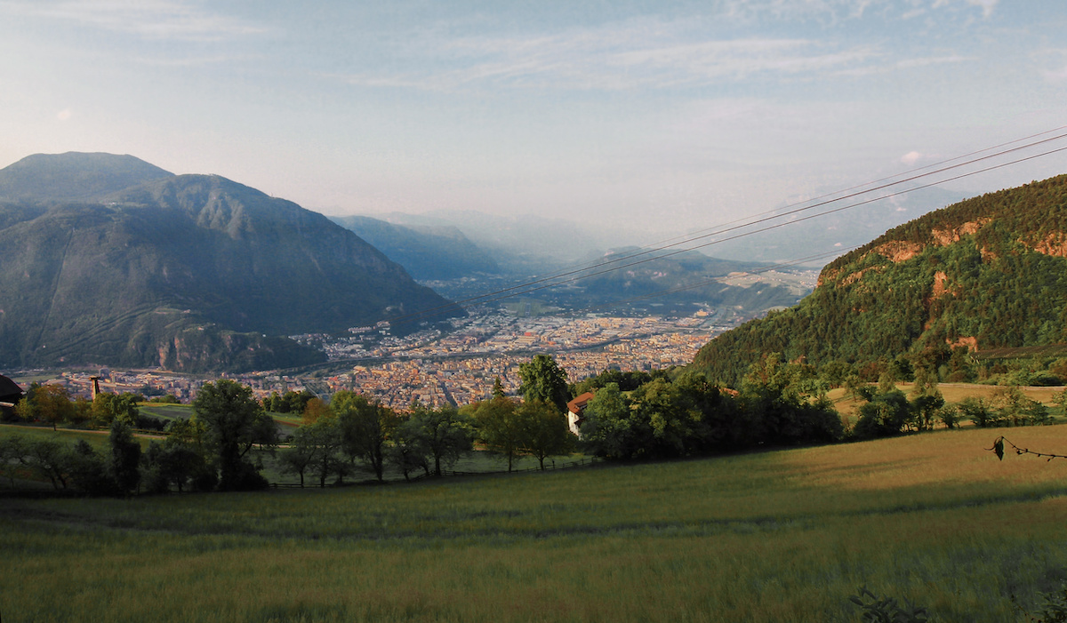 View of Bolzano from above