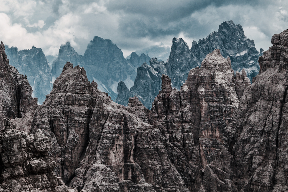 Pinnacles in the Tre Cime National Park