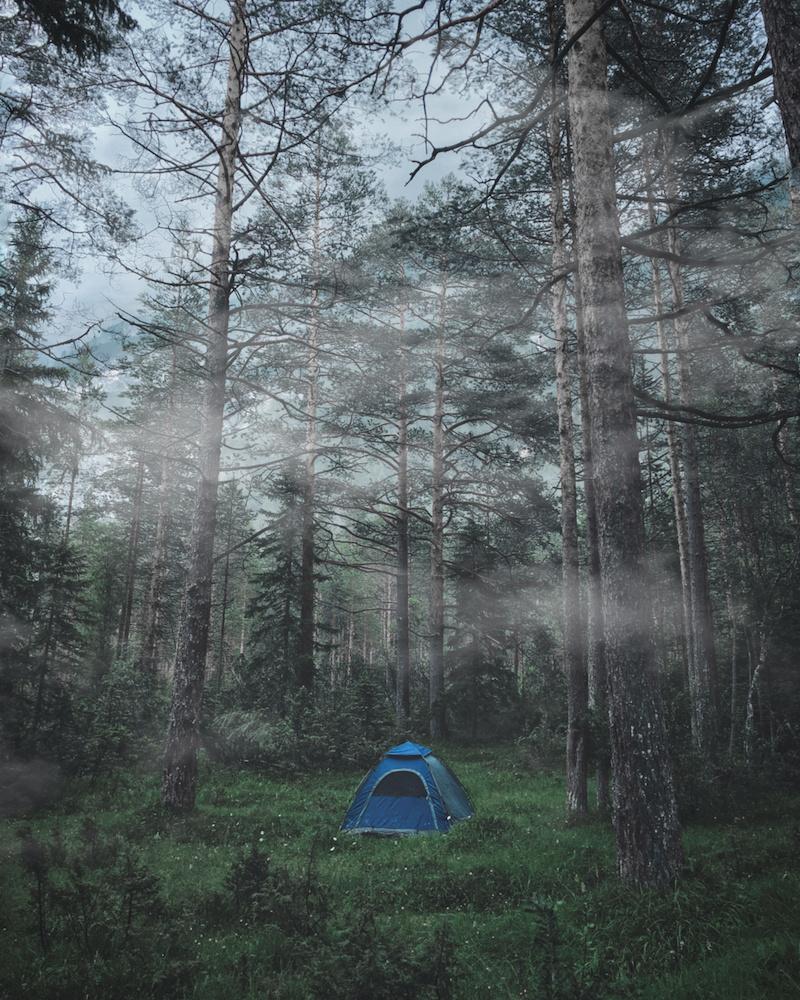 Camp Spot in the Dolomites