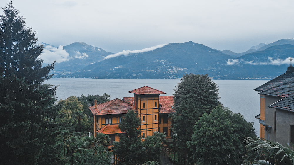 View of Lake Como from our room at the Peace Lodge