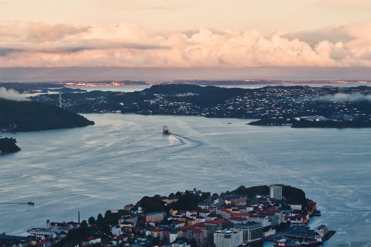 Sunrise from Top of Fløyen