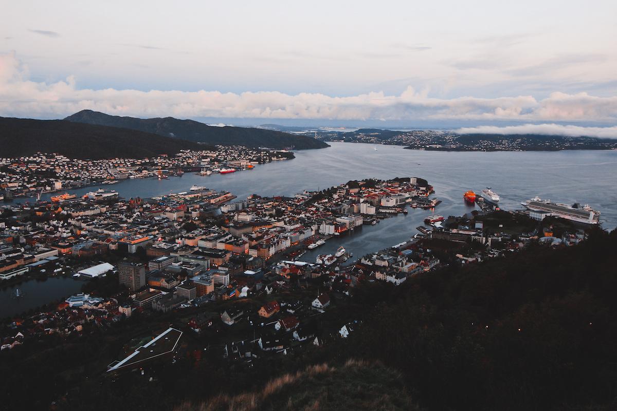 Bergen City from Fløyen Mountain