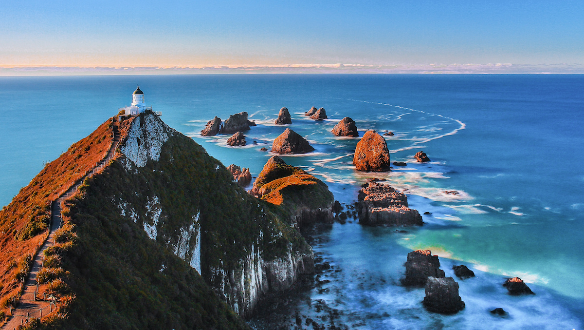 Nugget Point just after Sunrise