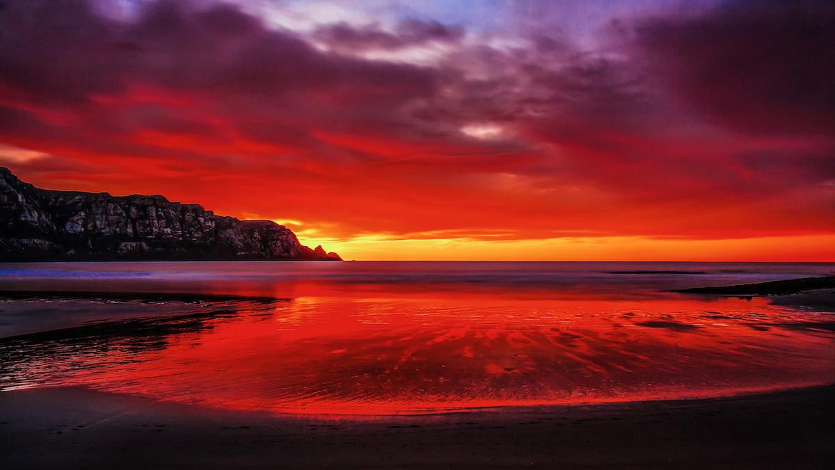 Purakanui Bay Sunrise - From Campsite