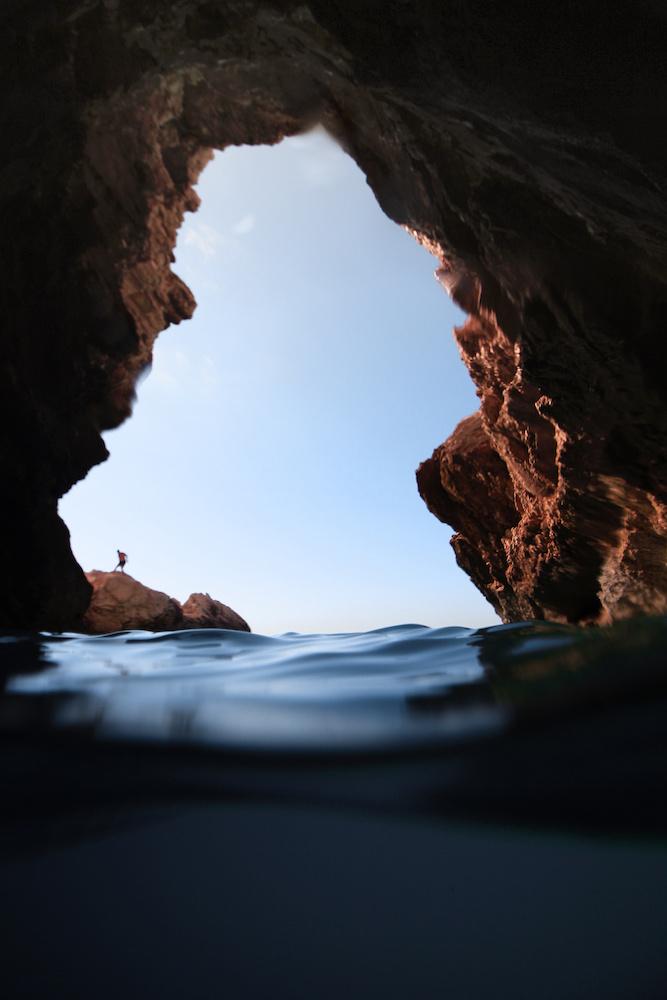 Caves at Myrtos Beach
