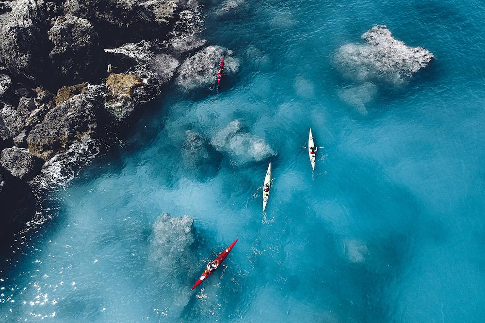 Kayaking in Ithaca, Greece